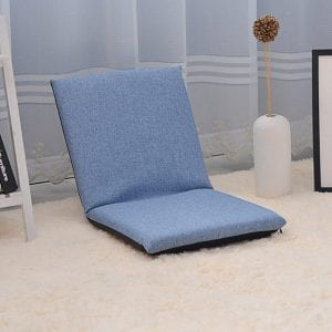 A Seiza Sitting On Adjustable Floor Cotton Chair