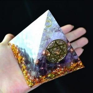 Orgonite Natural White Crystal To Improve Mood