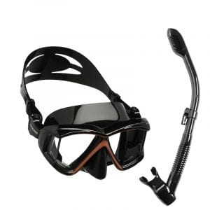 Silicone Dry Snorkel Diving Mask for Adults