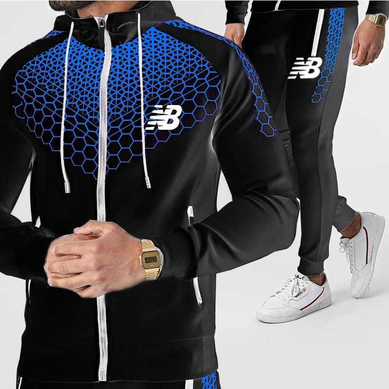 Football Sets Casual Tracksuit Male Sportswear Gym Clothing Sweat Suit