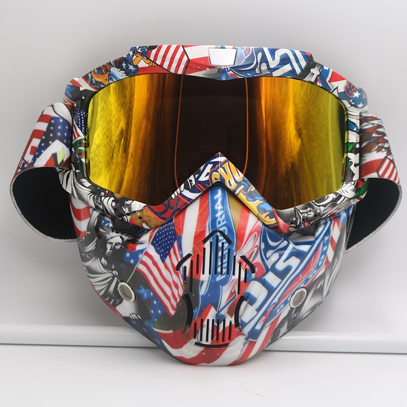 Motorcycle Goggles With Mask Motorcycle Ski Sport